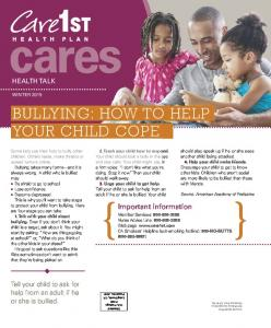BULLYING: HOW TO HELP YOUR CHILD COPE