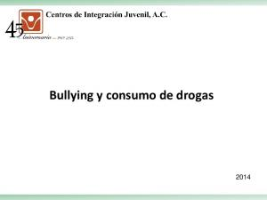 Bullying y consumo de drogas
