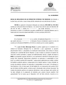 BUNAL DE APELACIONES DE LOS IMPUESTOS INTERNOS Y DE ADUANAS: