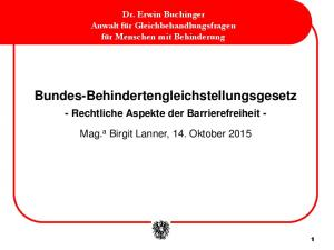 Bundes-Behindertengleichstellungsgesetz