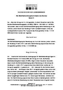 BUNDES-GLEICHBEHANDLUNGSKOMMISSION. Die Gleichbehandlungskommission des Bundes Senat II