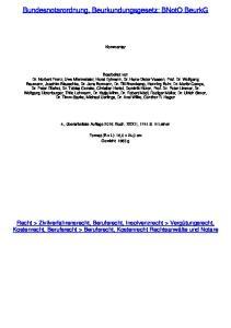 Bundesnotarordnung, Beurkundungsgesetz: BNotO BeurkG