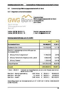 Bundesstadt Bonn ,00 27,04 % Stadtwerke Bonn GmbH ,00 4,11 % Stiftung