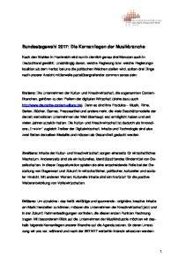 Bundestagswahl 2017: Die Kernanliegen der Musikbranche