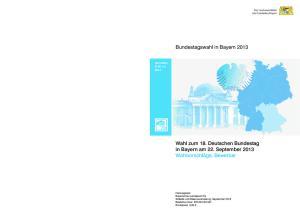 Bundestagswahl in Bayern 2013