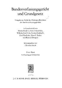 Bundesverfassungsgericht und Grundgesetz
