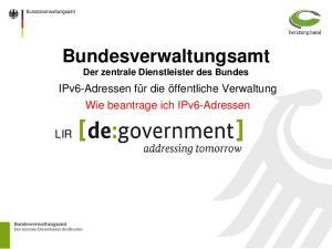 Bundesverwaltungsamt Der zentrale Dienstleister des Bundes