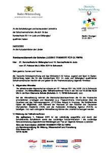 Bundeswettbewerb der Schulen JUGEND TRAINIERT FÜR OLYMPIA