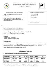 BUNDESWETTBEWERB DER SCHULEN