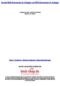 Bundle BGB Kommentar (8. Auflage) und ZPO-Kommentar (5. Auflage)