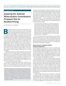 BUNDLED PRODUCT PRICING STRATEGIES ARE