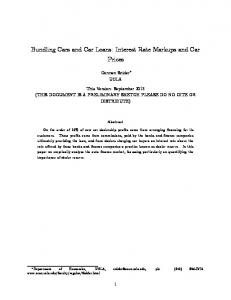 Bundling Cars and Car Loans: Interest Rate Markups and Car Prices