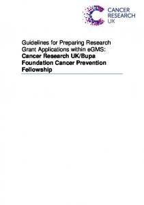 Bupa Foundation Cancer Prevention Fellowship