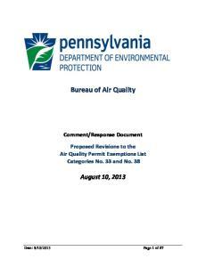 Bureau of Air Quality