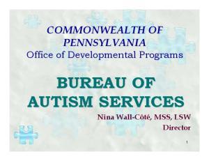 BUREAU OF AUTISM SERVICES