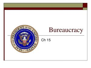 Bureaucrats. Some Bureaucratic Myths and Realities