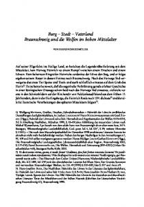 Burg Stadt Vaterland Braunschweig und die Welfen im hohen Mittelalter