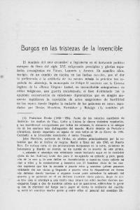 Burgos en las tristezas de la Invencible