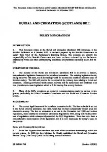 BURIAL AND CREMATION (SCOTLAND) BILL