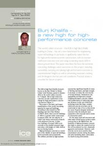 Burj Khalifa a new high for highperformance
