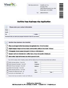 Burkina Faso Business visa Application