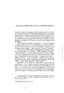 BURLAS LITERARIAS DE ALFONSO