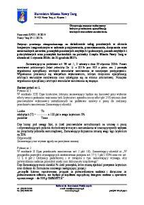 Burmistrz Miasta Nowy Targ Nowy Targ, ul. Krzywa 1