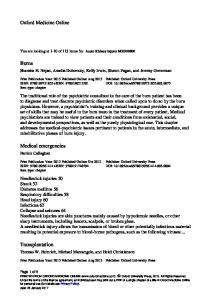 Burns. Medical emergencies. Transplantation. Oxford Medicine Online