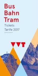 Bus Bahn Tram Tickets Tarife 2017