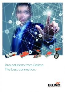 Bus solutions from Belimo. The best connection