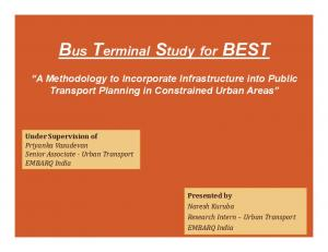 Bus Terminal Study for BEST