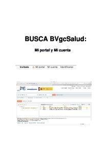 BUSCA BVgcSalud: Mi portal y Mi cuenta