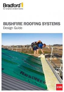 BUSHFIRE ROOFING SYSTEMS. Design Guide