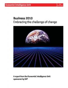 Business 2010 Embracing the challenge of change