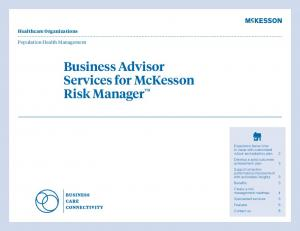 Business Advisor Services for McKesson Risk Manager