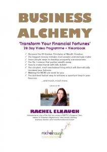 BUSINESS ALCHEMY. Transform Your Financial Fortunes 28 Day Video Programme + Visionbook
