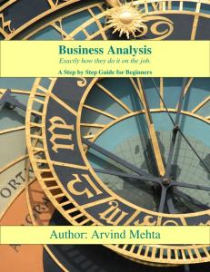 Business Analysis Exactly how they do it on the job