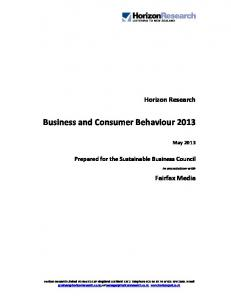 Business and Consumer Behaviour 2013