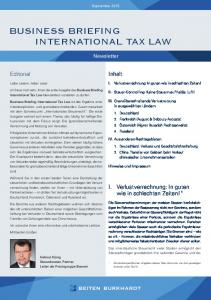 BUSINESS BRIEFING INTERNATIONAL TAX LAW