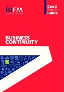 BUSINESS CONTINUITY. Good Practice Guide