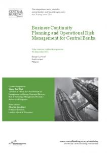 Business Continuity Planning and Operational Risk Management for Central Banks