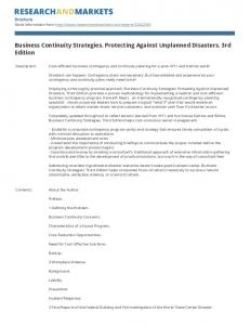 Business Continuity Strategies. Protecting Against Unplanned Disasters. 3rd Edition