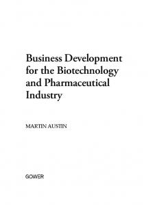 Business Development for the Biotechnology and Pharmaceutical Industry. martin austin