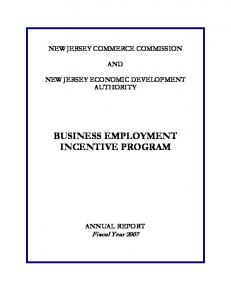 BUSINESS EMPLOYMENT INCENTIVE PROGRAM