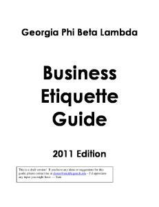 Business Etiquette Guide