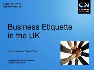 Business Etiquette in the UK