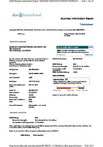 Business Information Report