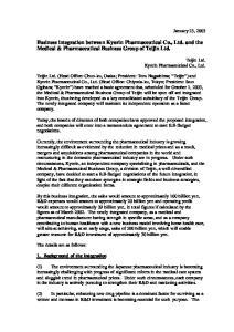 Business integration between Kyorin Pharmaceutical Co., Ltd. and the Medical & Pharmaceutical Business Group of Teijin Ltd