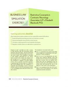 BUSINESS LAW SIMULATION EXERCISE 1