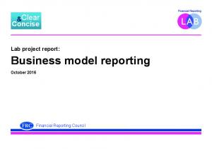 Business model reporting